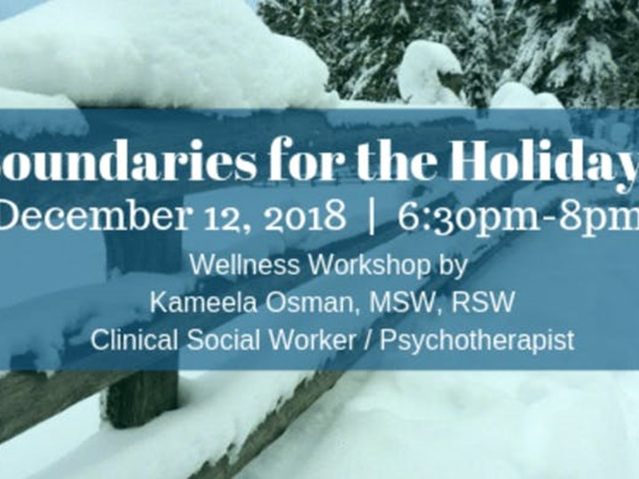 Boundaries for the Holidays - Wellness Workshop